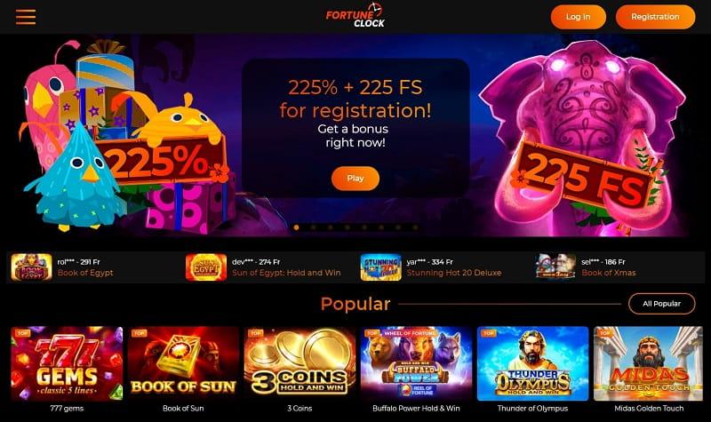 Fortune Clock Casino Review