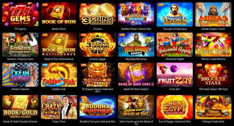 Fortune Clock Casino games